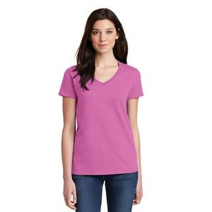 Gildan® Ladies Heavy Cotton™ 100% Cotton V-Neck T-Shirt